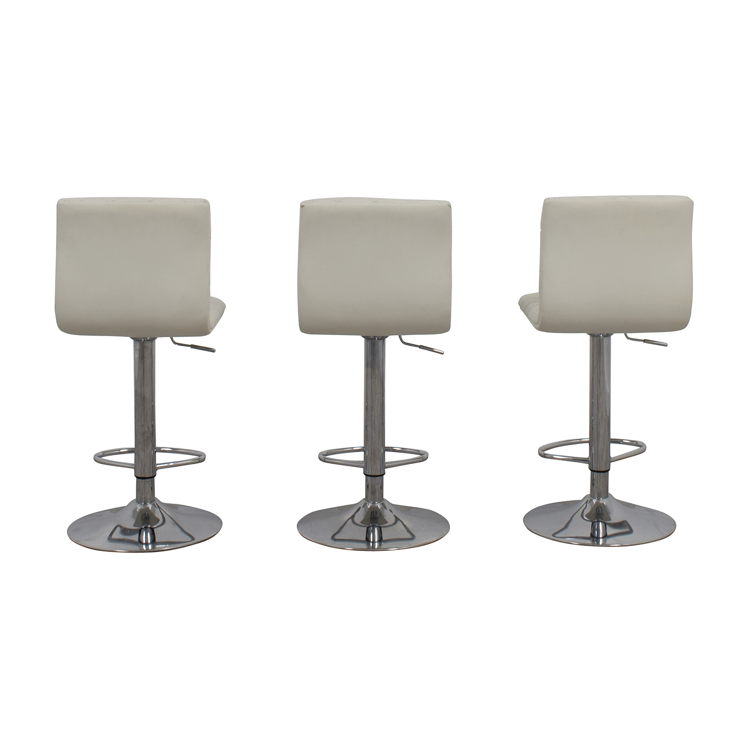 White Quilted Bar Stool Chairs dimensions