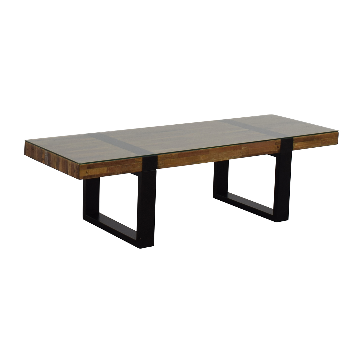 Crate barrel crate barrel seguro rectangular coffee table