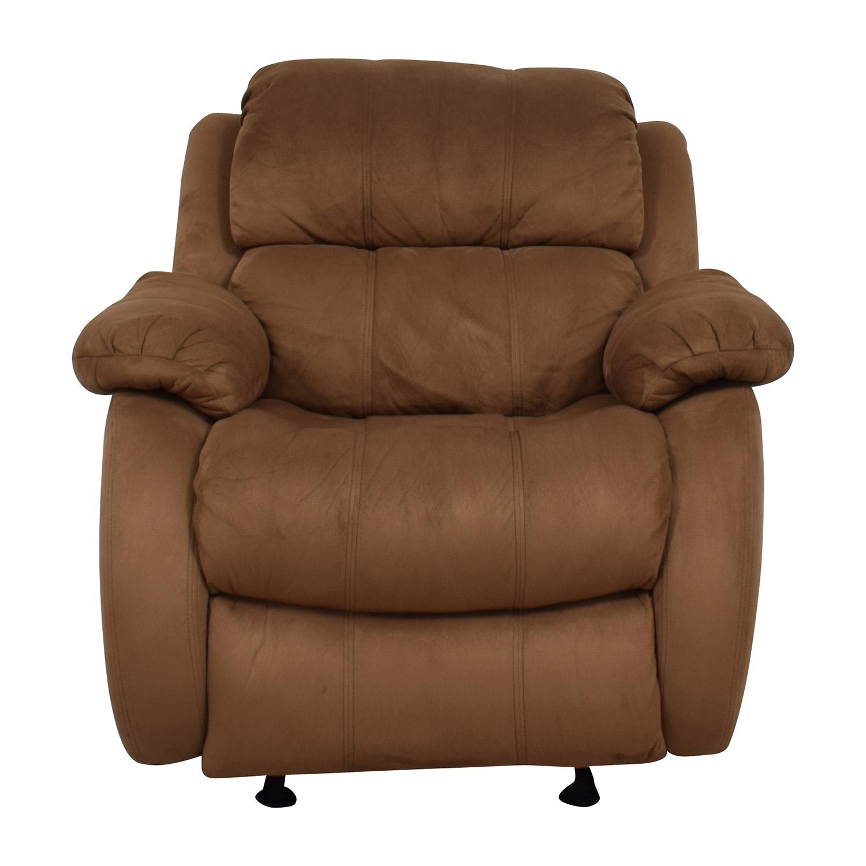 47% OFF Macy s Macy s Gunmetal Grey Leather Chaise Lounge