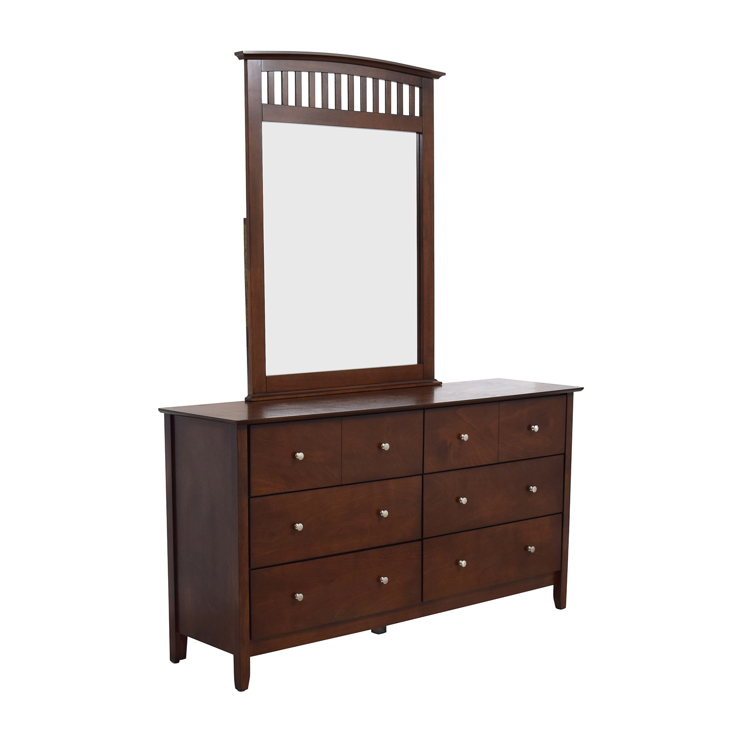 63 Off Bob 39 S Furniture Bob 39 S Furniture Eight Drawer Dresser And Mirror Storage