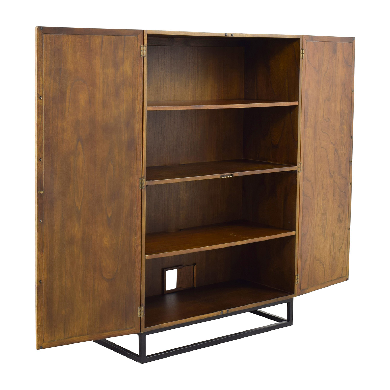 51 off crate barrel crate barrel estilo cabinet storage. Black Bedroom Furniture Sets. Home Design Ideas