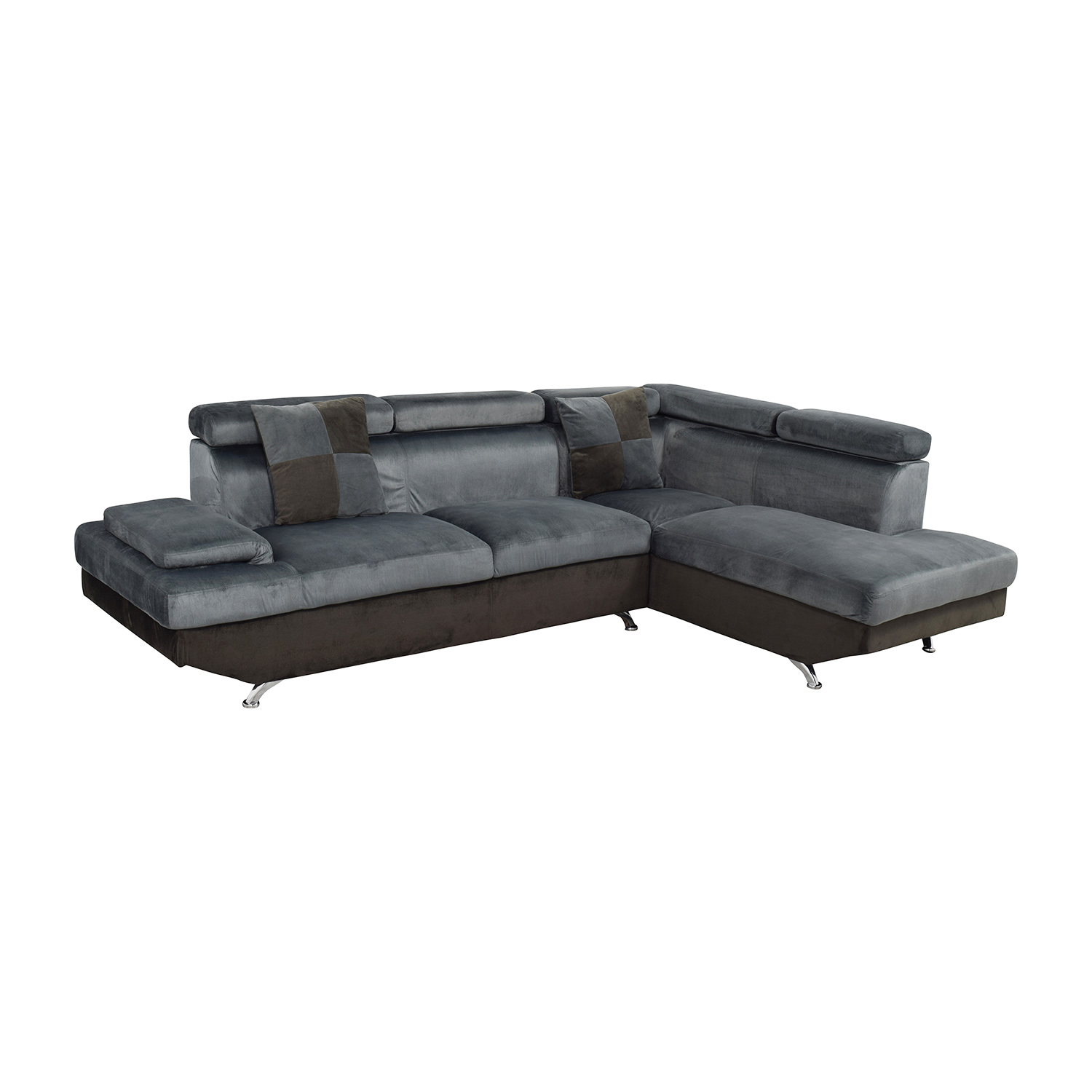 57 off beverly furniture beverly furniture two piece for Buy grey sectional sofa