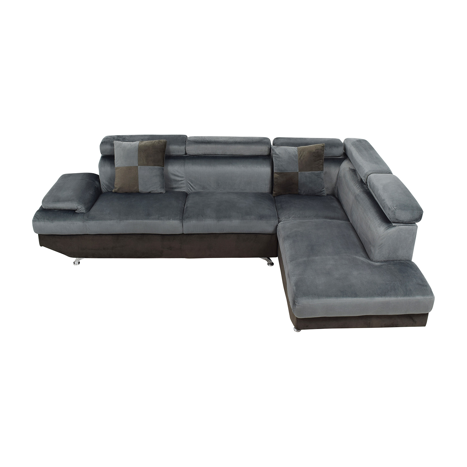 Beverly Furniture Two Piece Gray Sectional Sofa / Sectionals