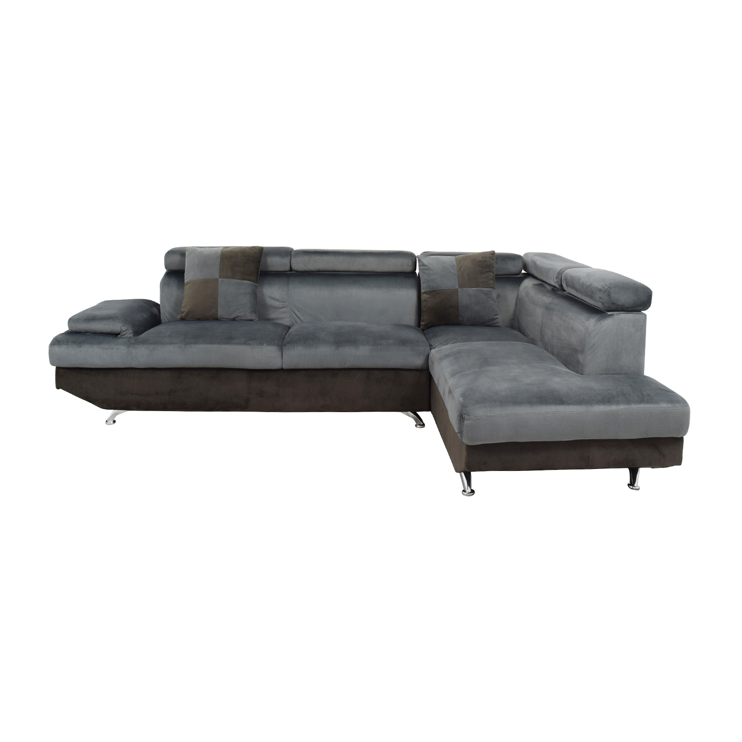 Beverly Furniture Beverly Furniture Two Piece Gray Sectional Sofa price