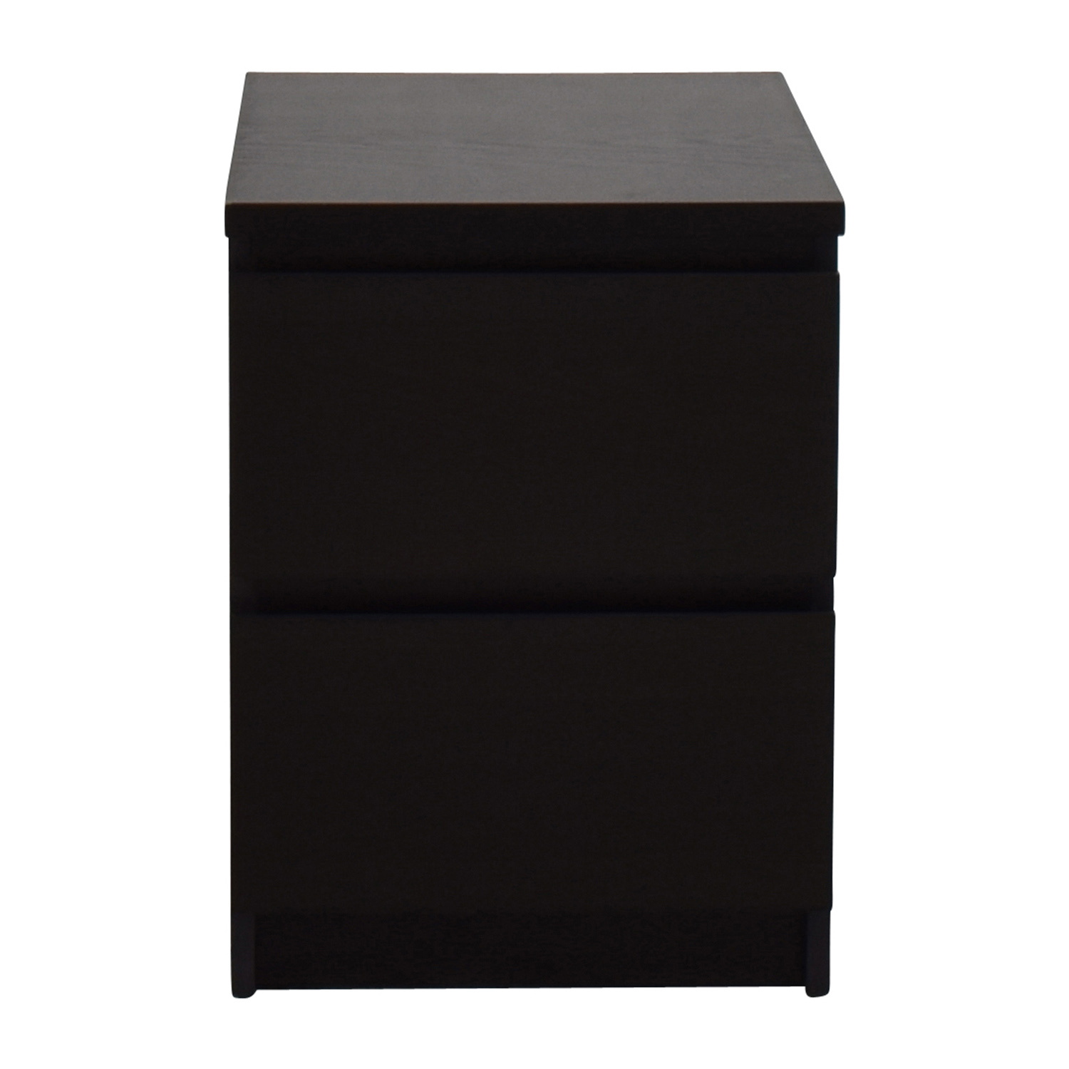 Ikea Brown Two Drawer Night Stand Second Hand