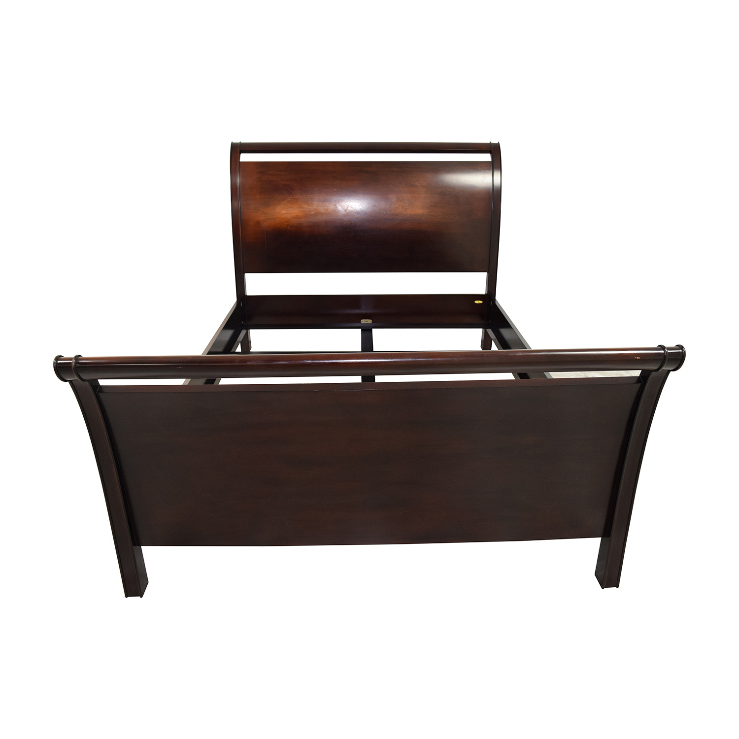 shop Crate and Barrel Crate and Barrel Wood Queen Sleigh Bed online