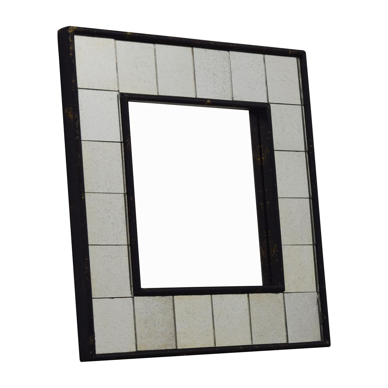 West Elm West Elm Antique Tiled Square Mirror