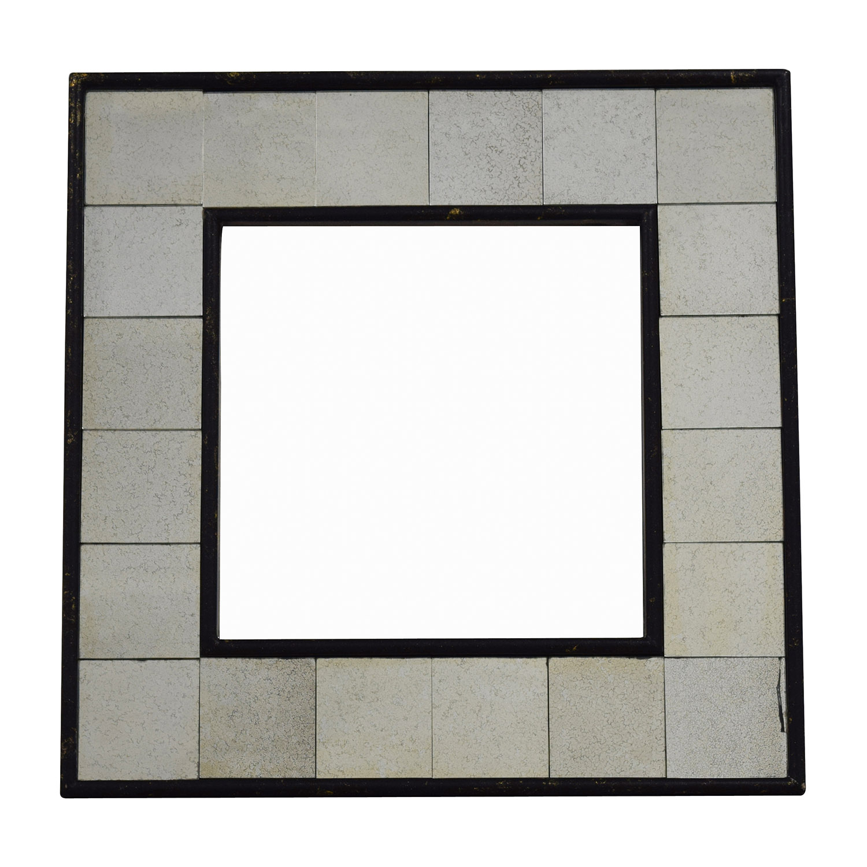 buy West Elm Antique Tiled Square Mirror West Elm
