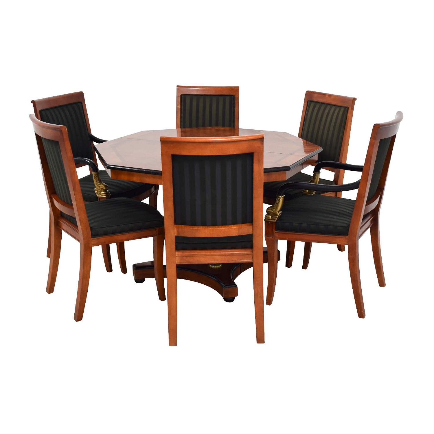 89 off vintage dining table set with gold accent tables. Black Bedroom Furniture Sets. Home Design Ideas