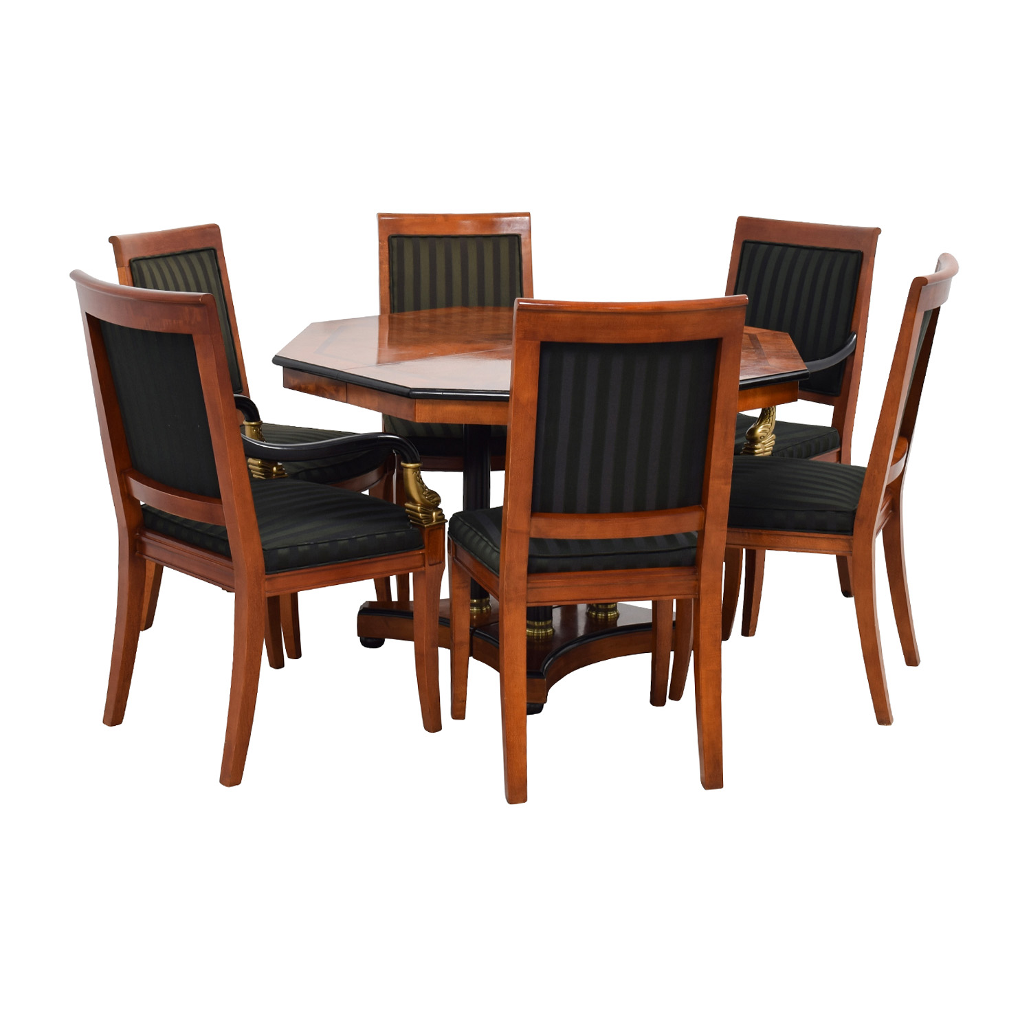 Hand Vintage Dining Table Set Gold Accent  Tables