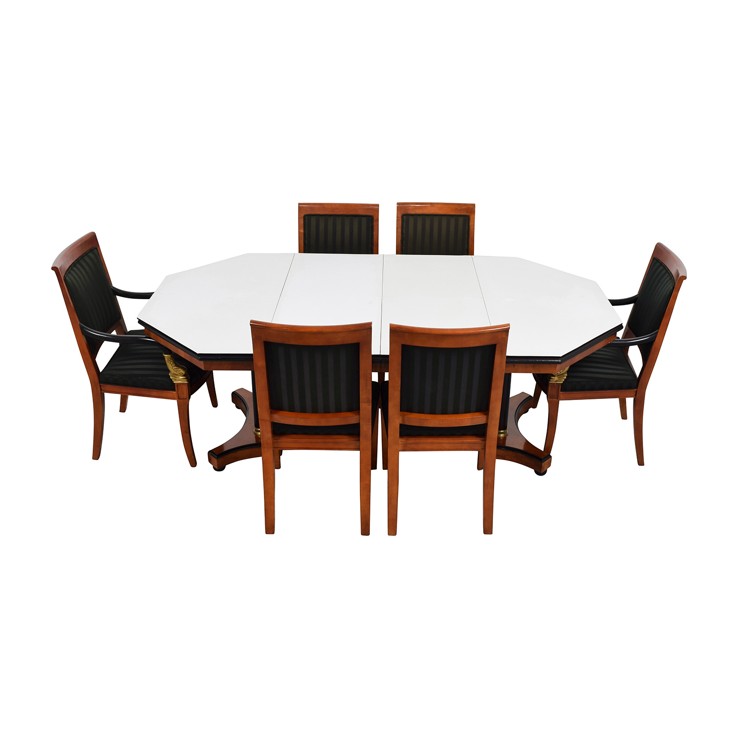 89 OFF Vintage Dining Table Set with Gold Accent Tables : used vintage dining table set with gold accent from furnishare.com size 1500 x 1500 jpeg 244kB