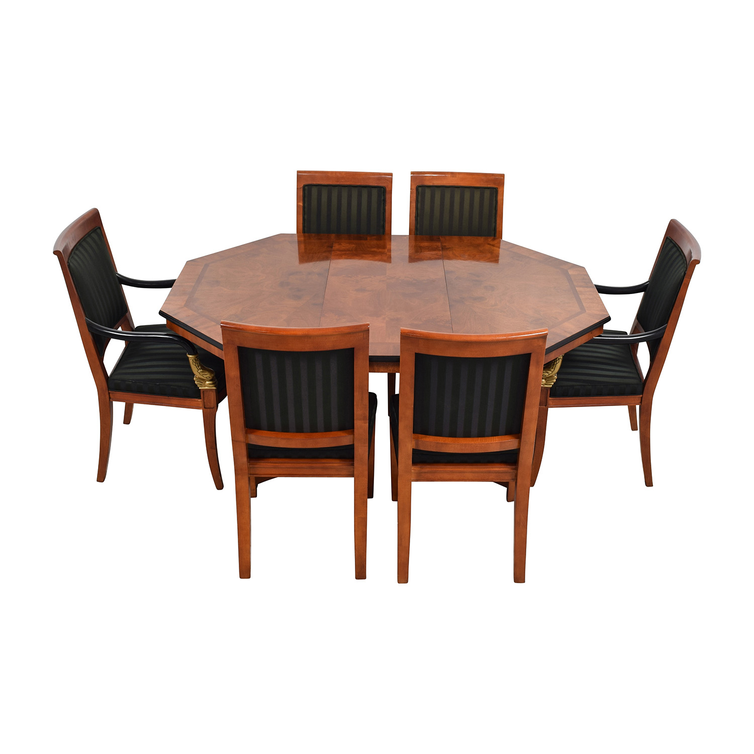 89 Off Vintage Dining Table Set With Gold Accent Tables