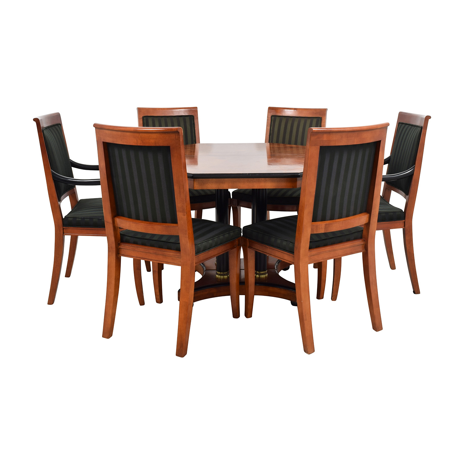 Vintage Dining Table Set with Gold Accent dimensions