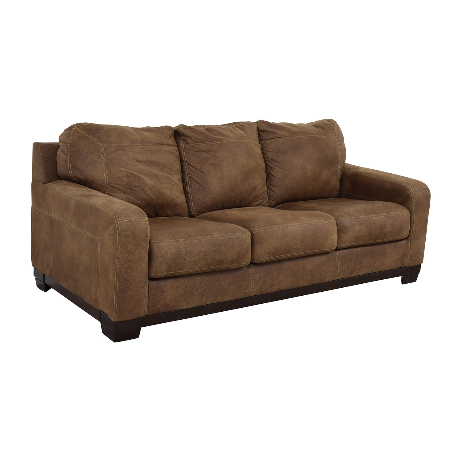 79 off ashley furniture ashley furniture kylun brown three cushion couch sofas