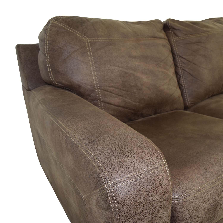 ... Buy Ashley Furniture Kylun Brown Three Cushion Couch Ashley Furniture  Classic Sofas ...