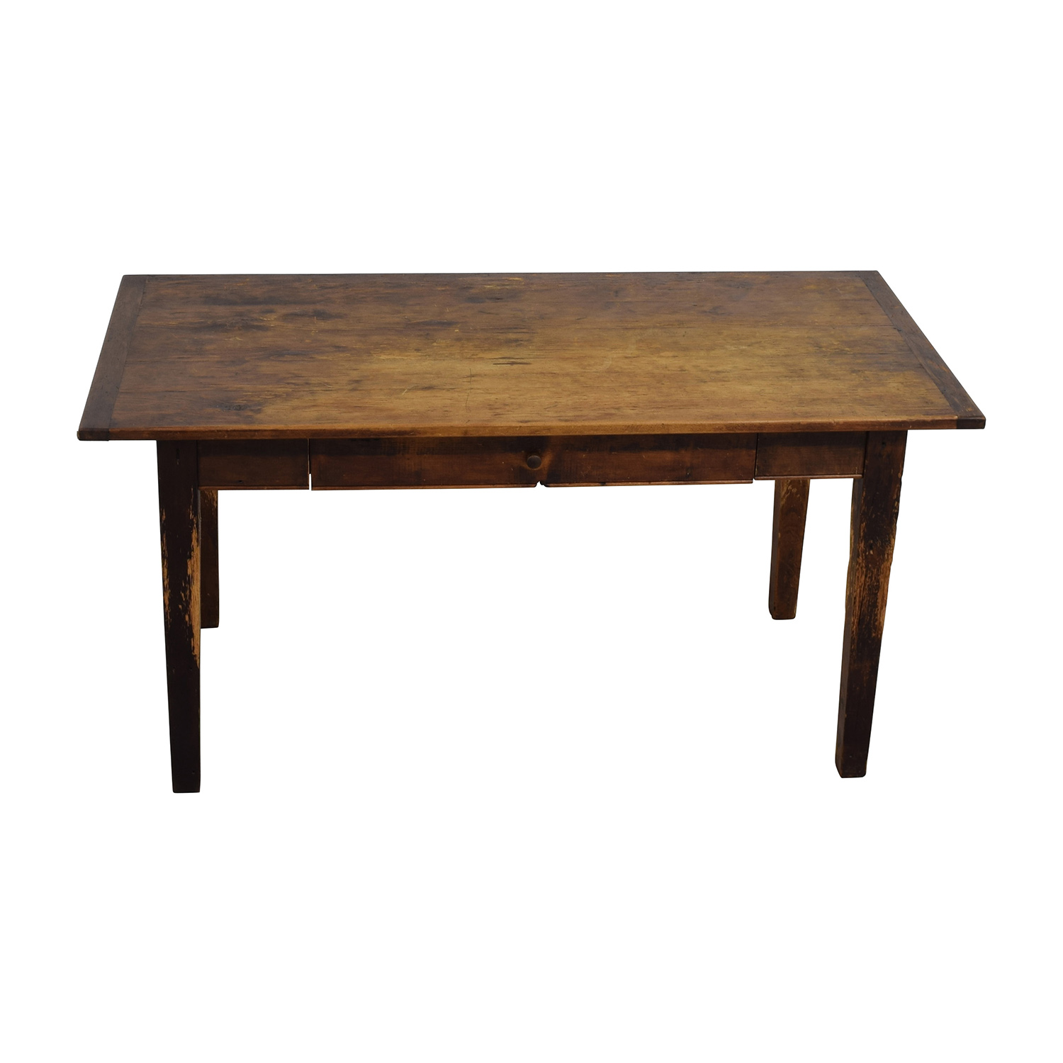 Antique Table with Single Drawer Dinner Tables