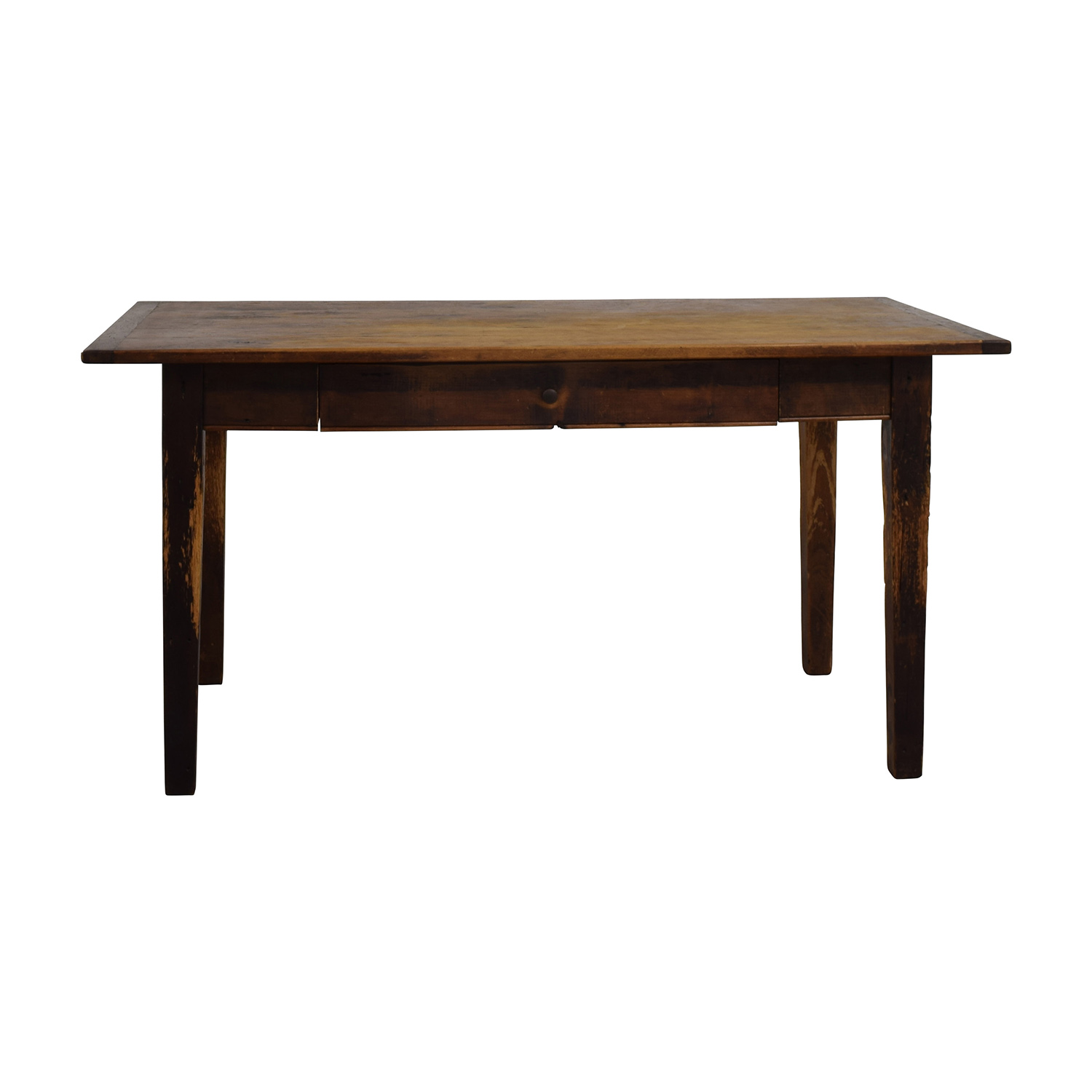 Antique Table with Single Drawer brown