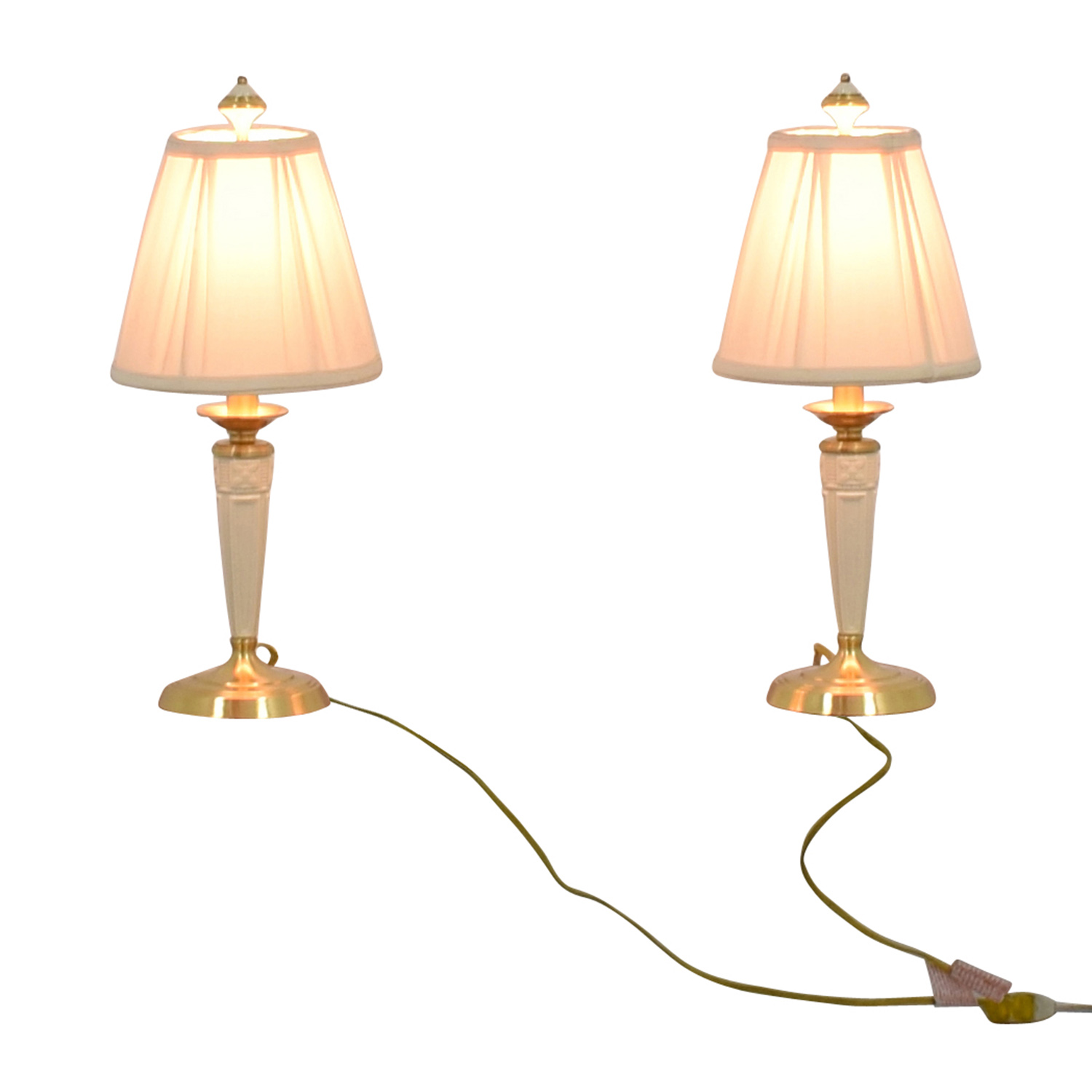 88 off lenox lenox white and gold base table lamps decor lenox lenox white and gold base table lamps for sale geotapseo Image collections