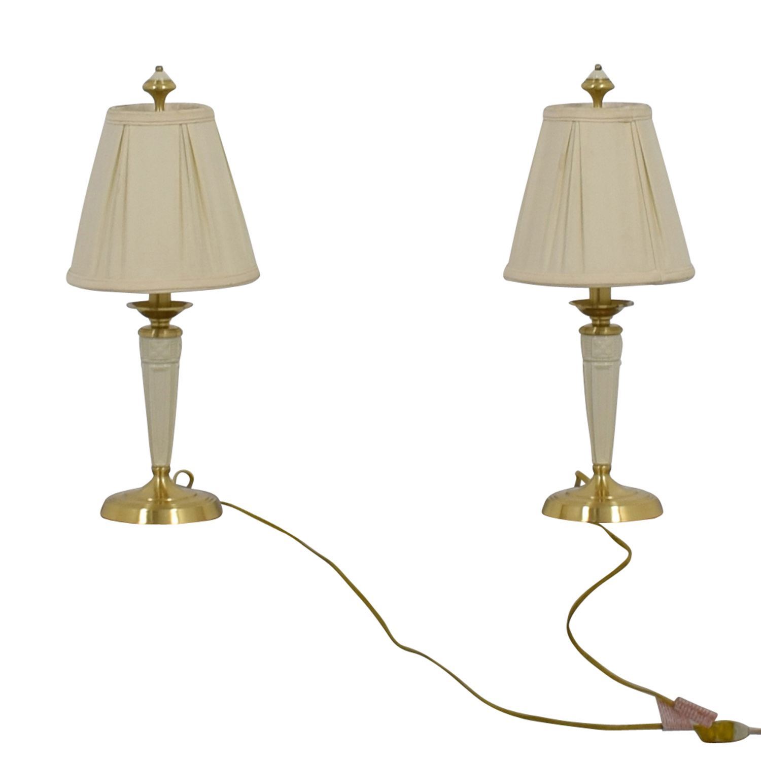 90 off lenox lenox white and gold base table lamps decor lenox white and gold base table lamps lamps aloadofball Images