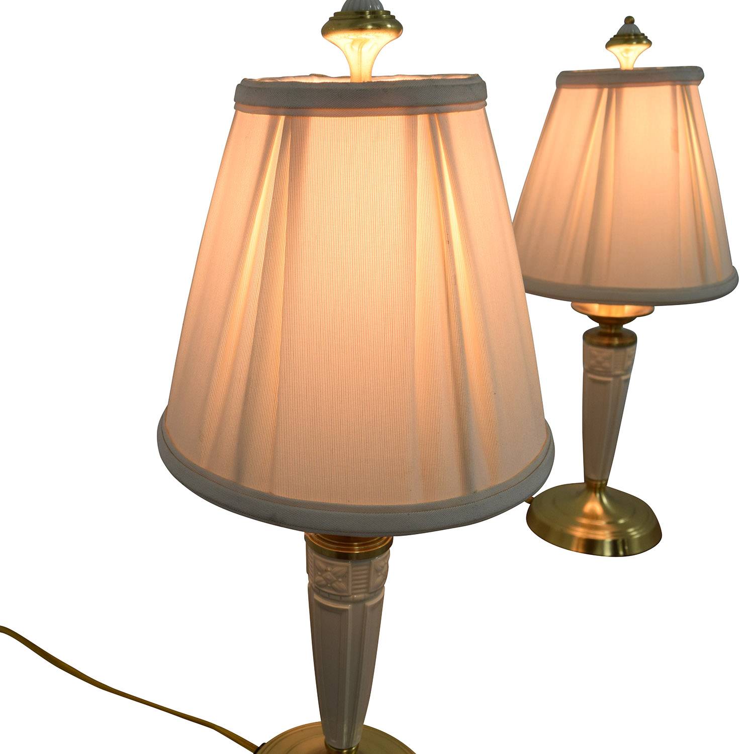 88 off lenox lenox white and gold base table lamps decor lenox white and gold base table lamps sale geotapseo Image collections