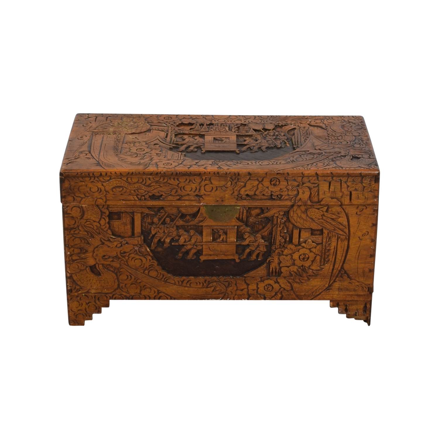 Chinese Wood Camphor Trunk used
