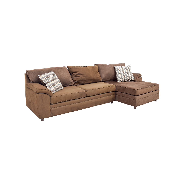 46 Off Bob S Furniture Bob S Furniture Brown Chaise
