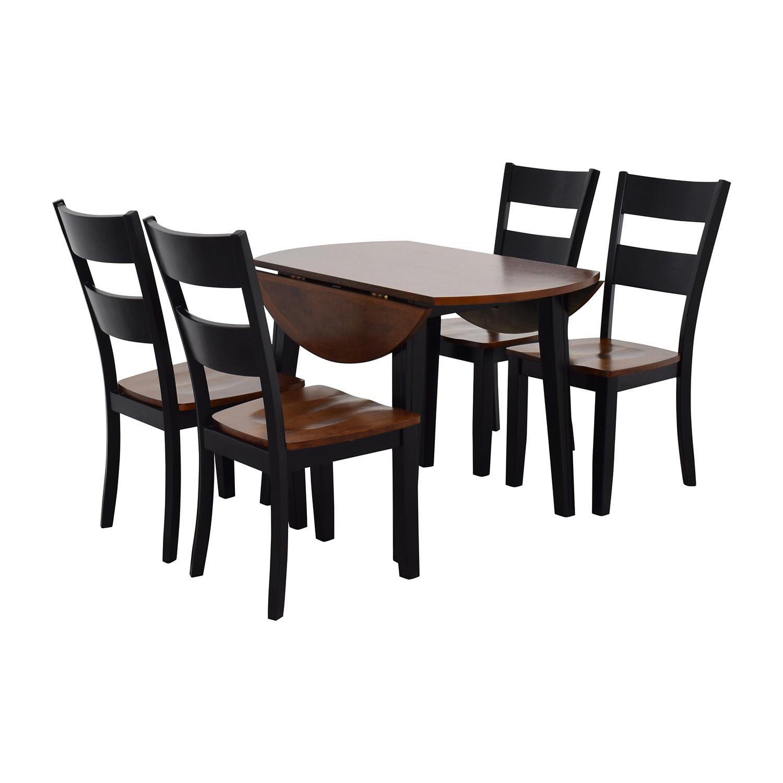45% OFF - Bob\'s Discount Furniture Bob\'s Furniture Leaf Folding Kitchen  Dining Set / Tables
