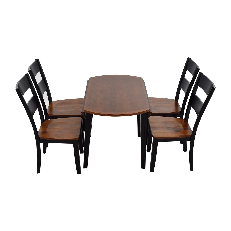 ... Bobs Furniture Bobs Furniture Leaf Folding Kitchen Dining Set On Sale  ...