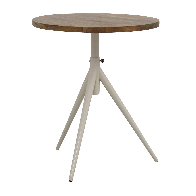 ... West Elm West Elm Round Adjustable Bistro Table For Sale ...