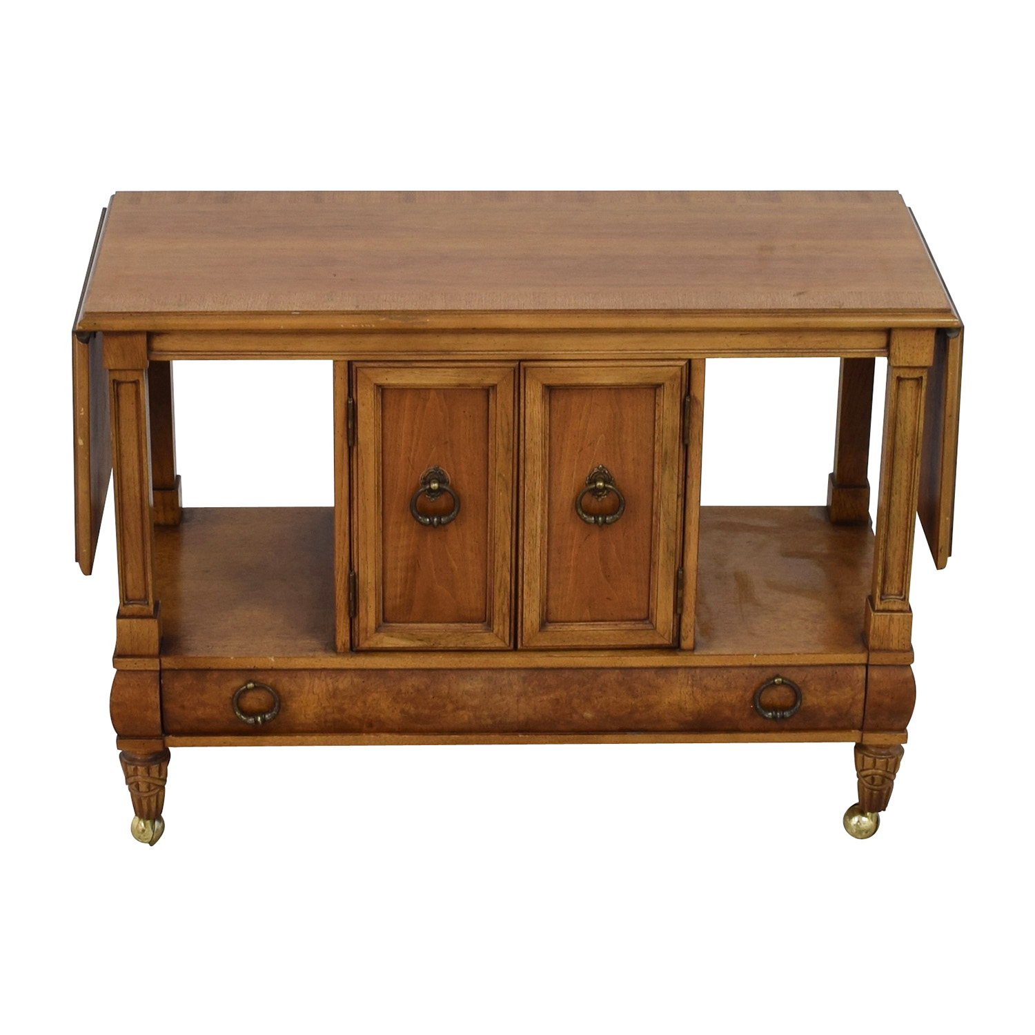 Thomasville Thomasville Wood Tea Cart with Casters Cabinets & Sideboards