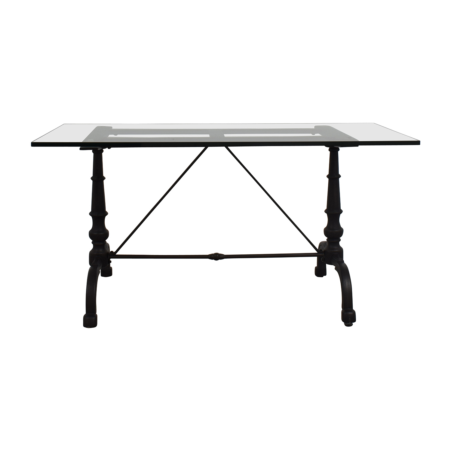 Williams Sonoma Williams Sonoma La Coupole Rectangular Iron Bistro Table