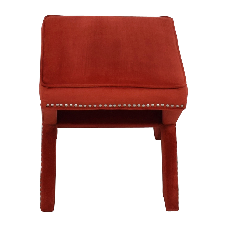 shop Abbyson Marcus Sangria Nailhead Trim Ottoman Bench Abbyson Chairs