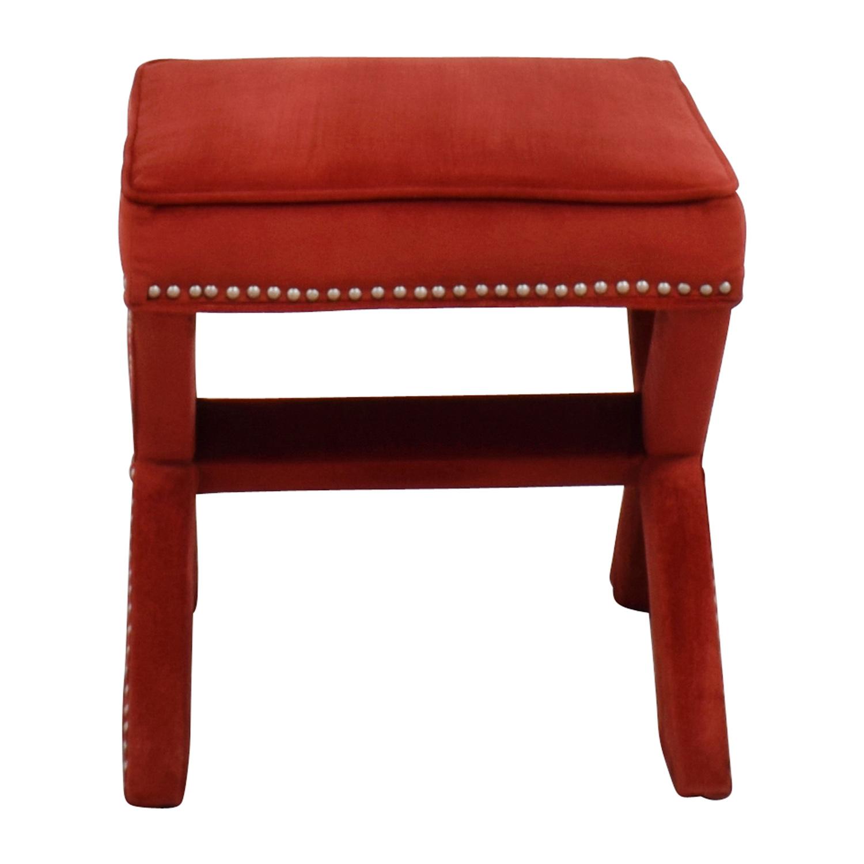 90% OFF   Abbyson Abbyson Marcus Sangria Nailhead Trim Ottoman Bench /  Chairs