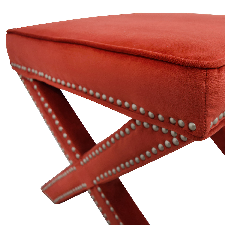 Cool 90 Off Abbyson Abbyson Marcus Sangria Nailhead Trim Ottoman Bench Chairs Theyellowbook Wood Chair Design Ideas Theyellowbookinfo