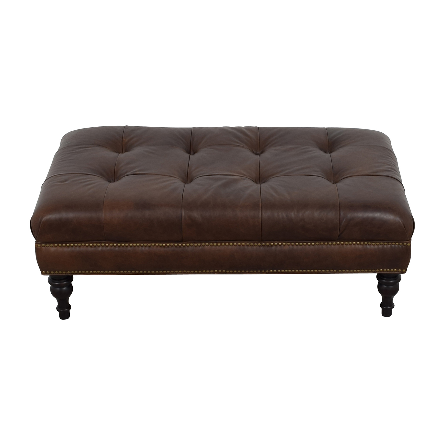 75% OFF Restoration Hardware Restoration Hardware Brown Leather