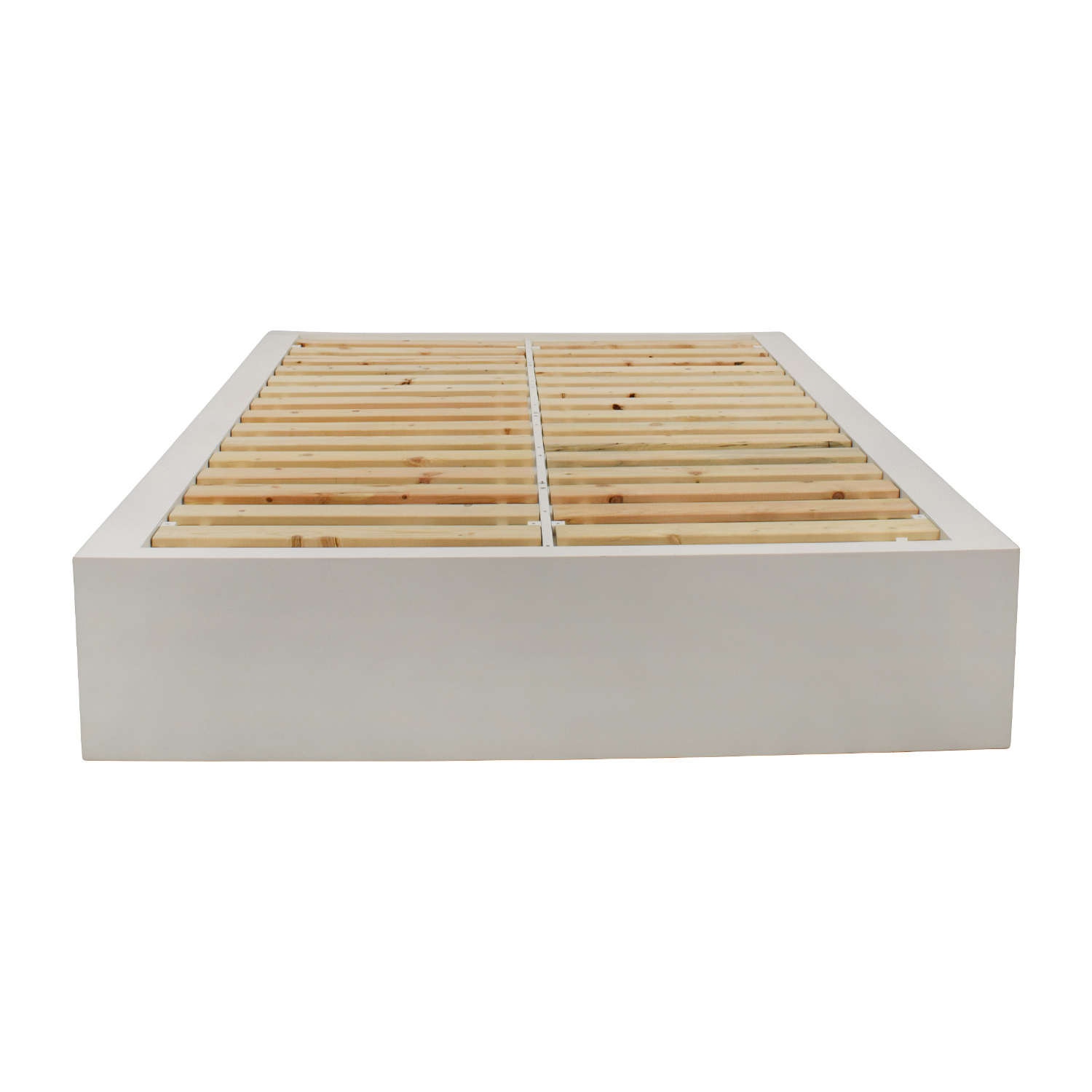 West Elm West Elm White Storage Platform Queen