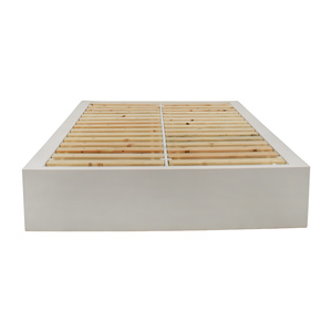 buy West Elm White Storage Platform Queen Bed Frame West Elm