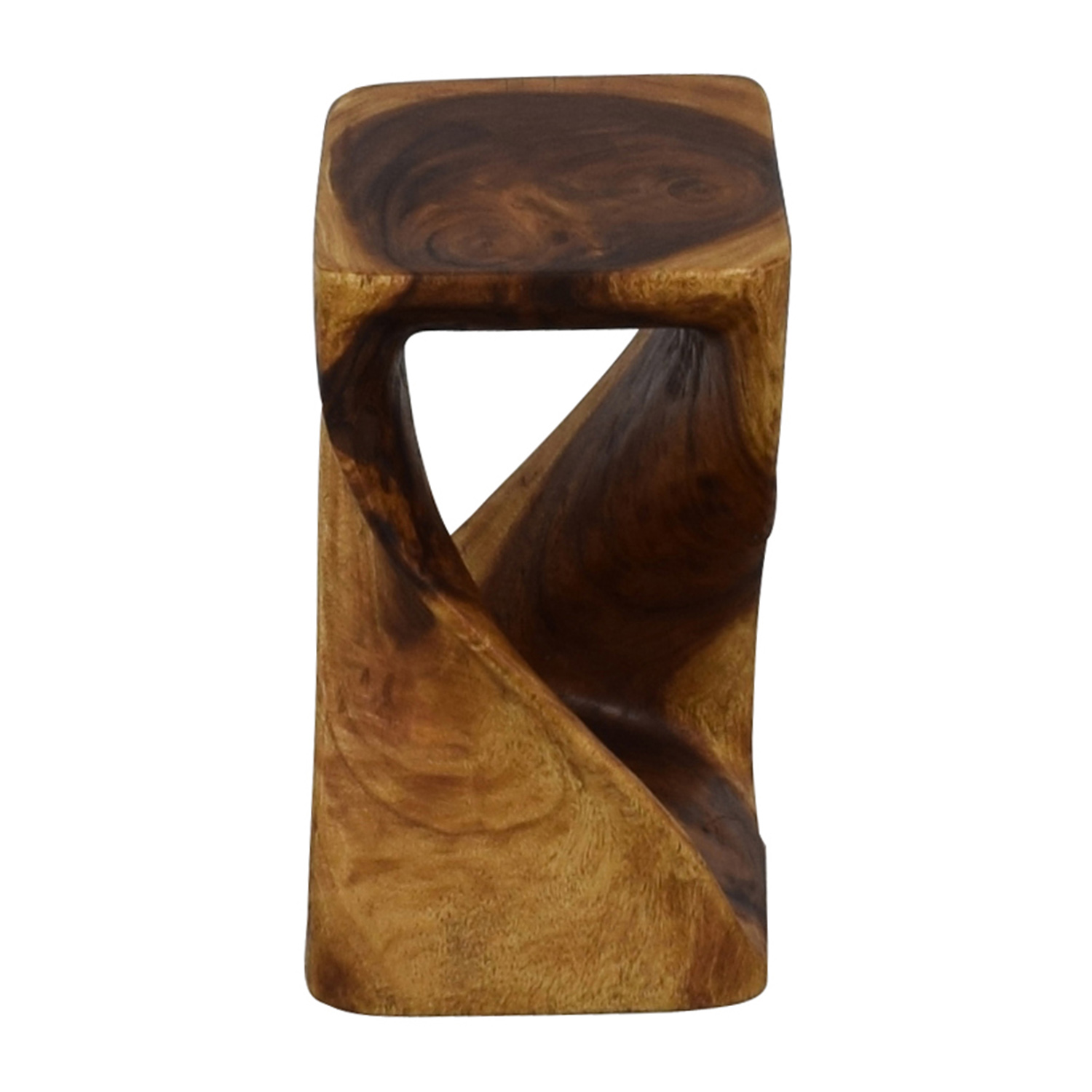 Haussmann Haussmann Hand-carved Walnut Oil Twist Stool price