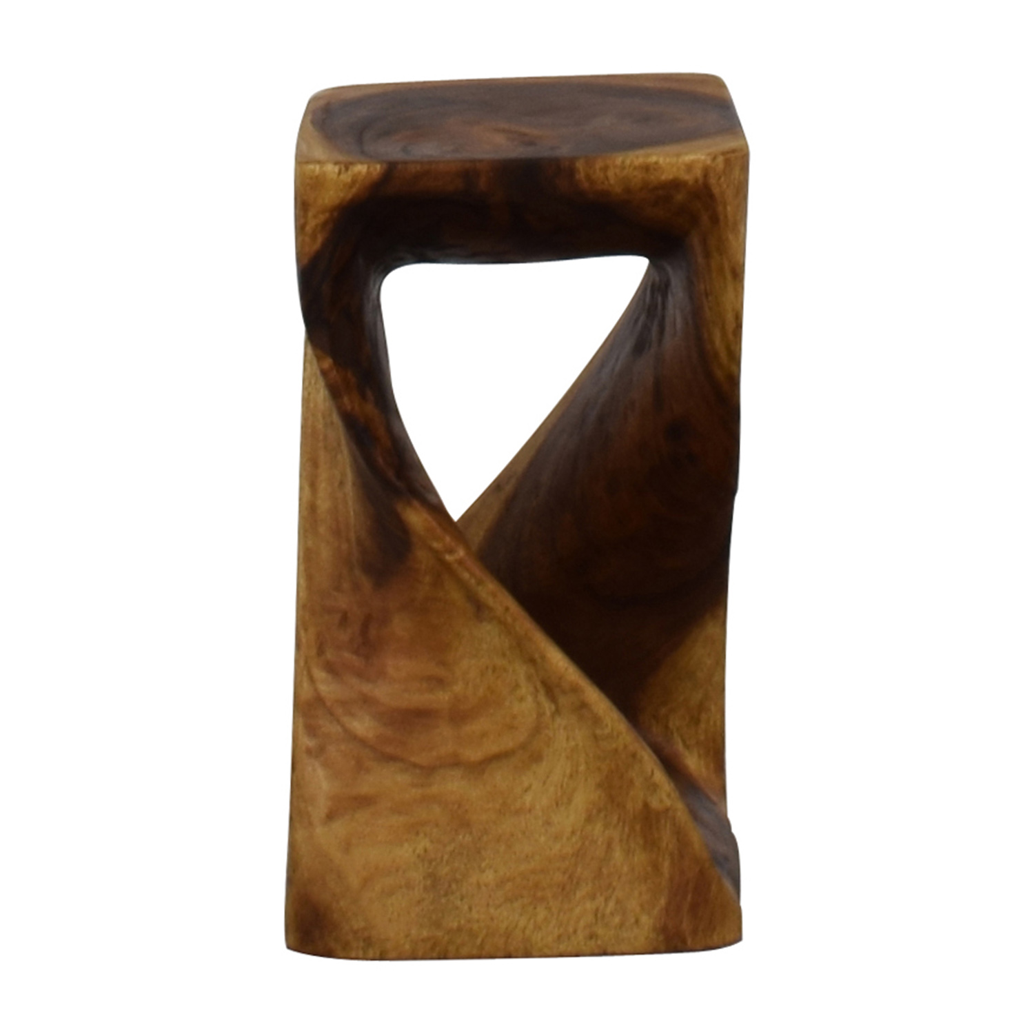 Haussmann Haussmann Hand-carved Walnut Oil Twist Stool coupon
