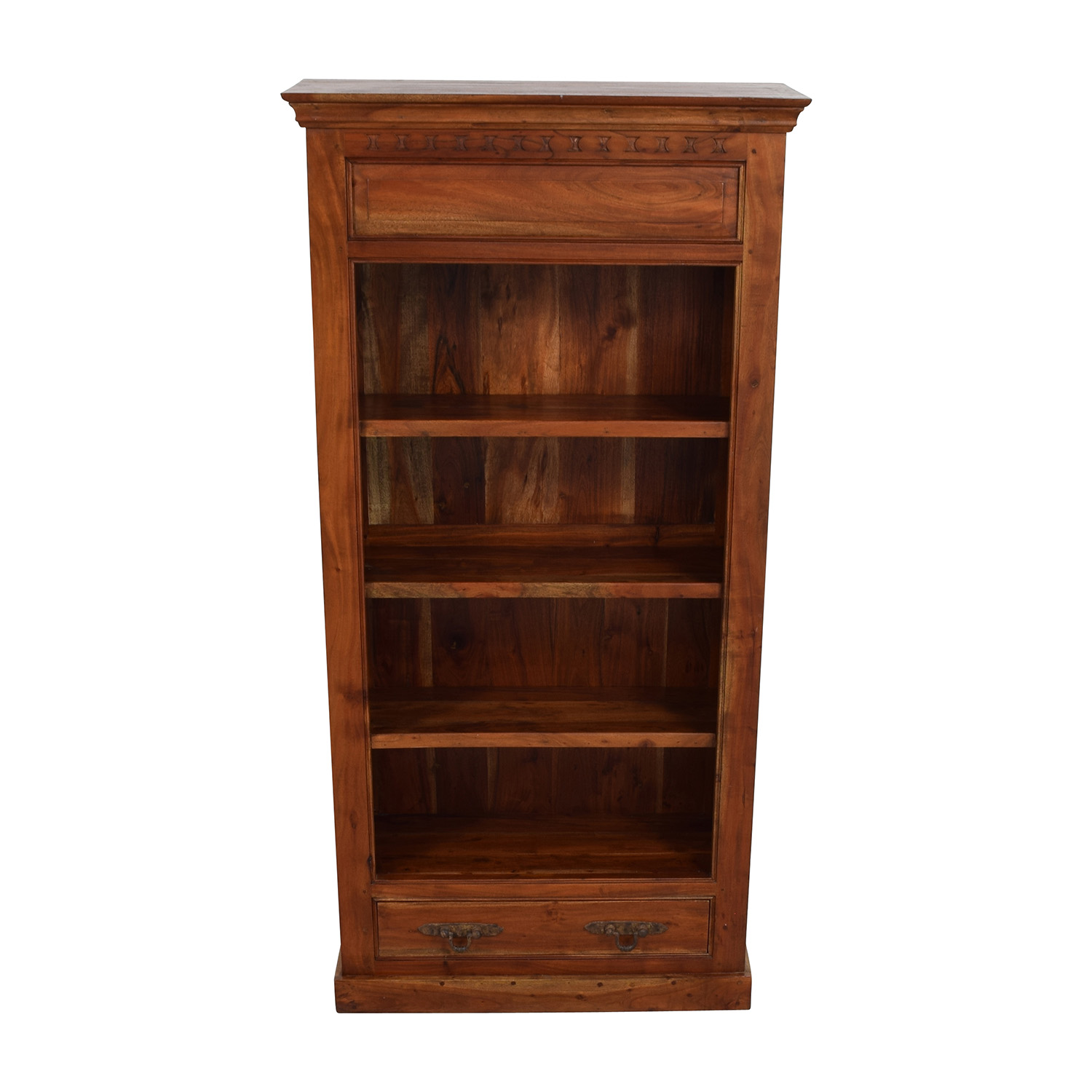 Hand Carved Bookshelf ~ Off hand carved book shelf storage