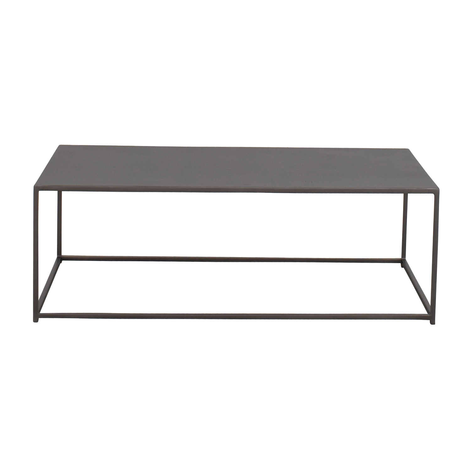 reputable site 4491c 46212 51% OFF - CB2 CB2 Mill Industrial Iron Coffee Table / Tables