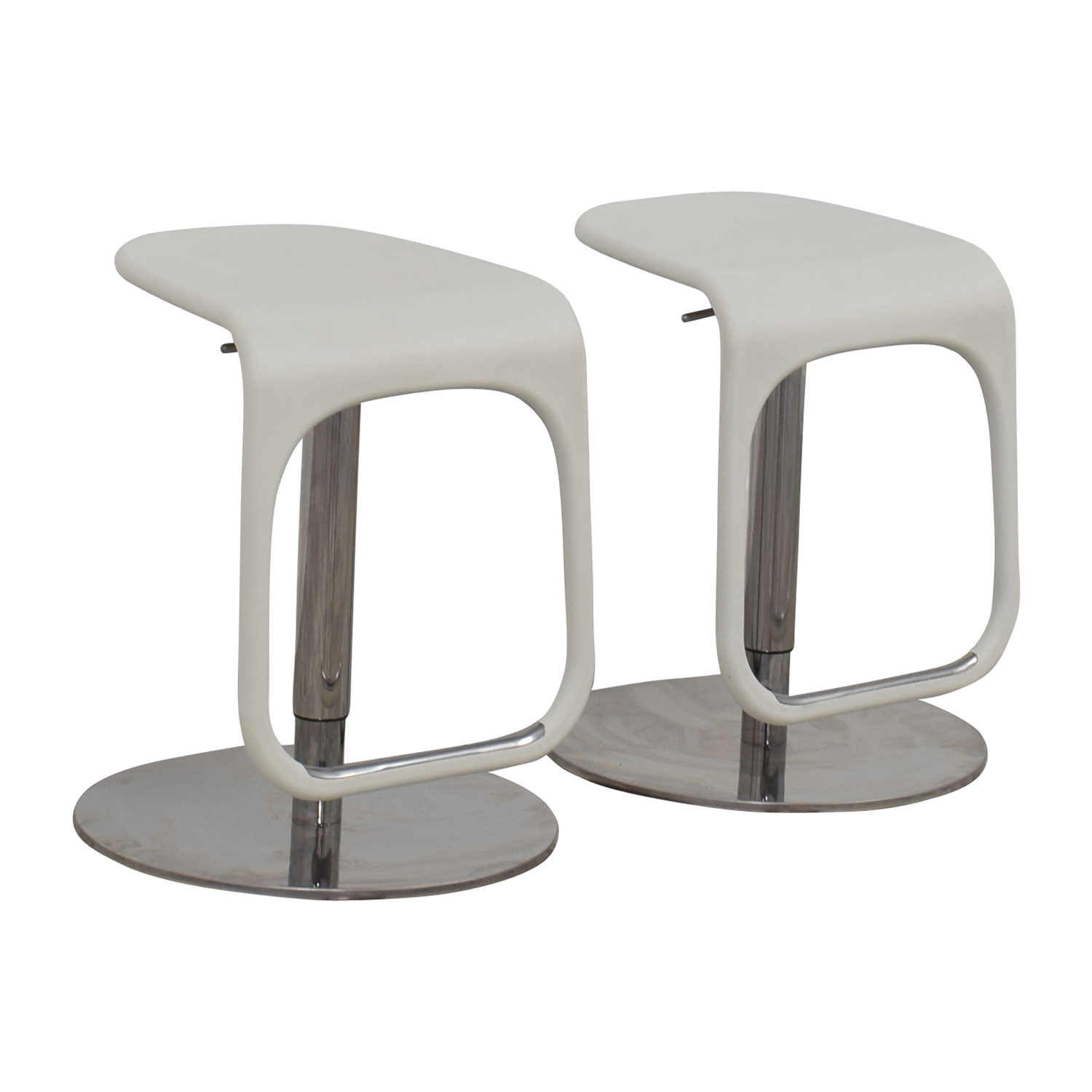 58 Off Ikea Ikea White Modern Bar Stools Chairs