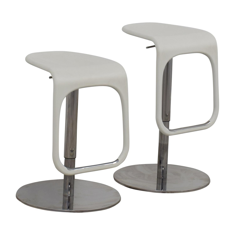 58 Off Ikea Ikea White Modern Bar Stools Chairs