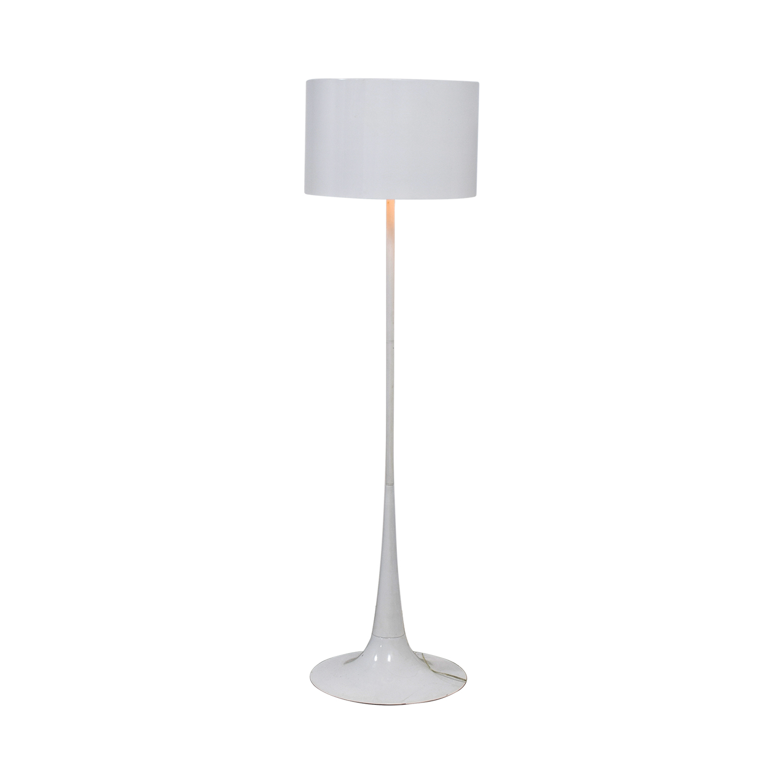 Modem White Floor Lamp