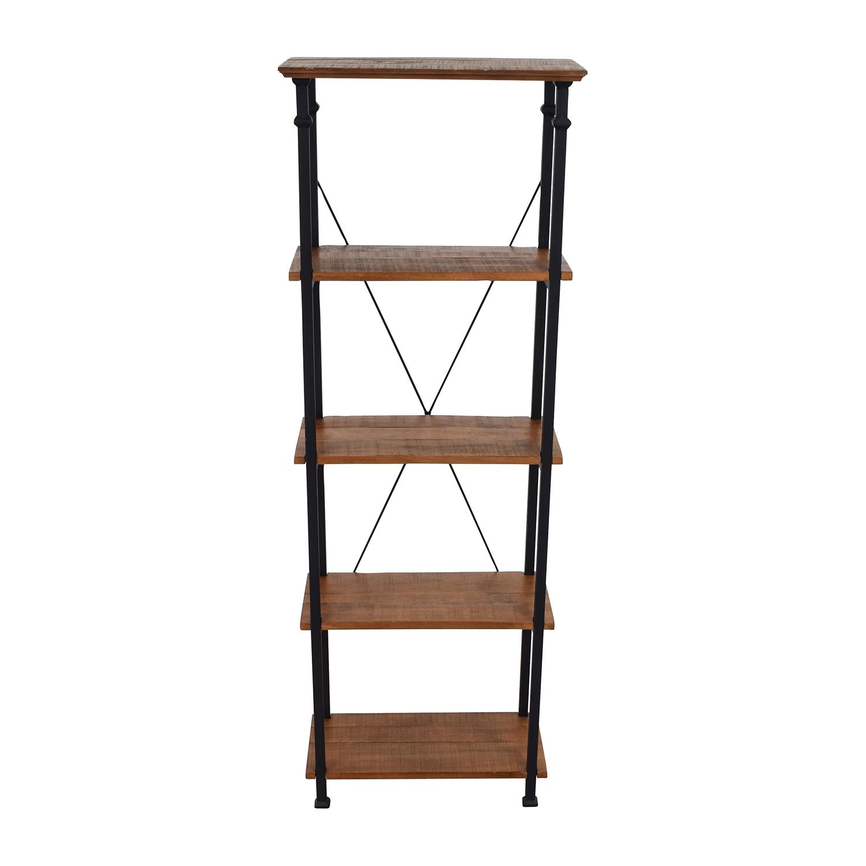 InspireQ InspireQ Myra Vintage Industrial Bookcase Bookcases & Shelving
