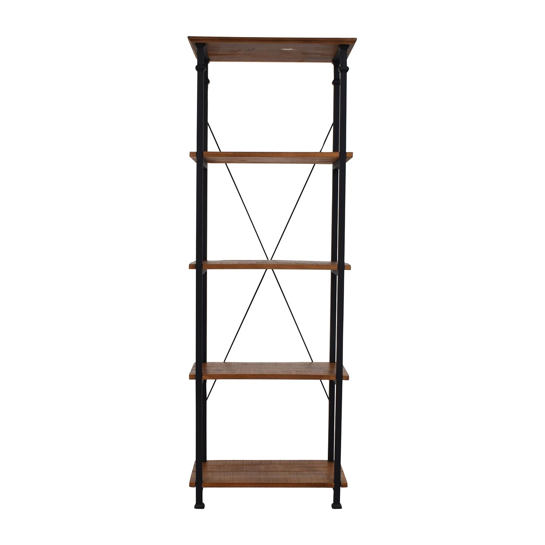 InspireQ InspireQ Myra Vintage Industrial Bookcase Storage
