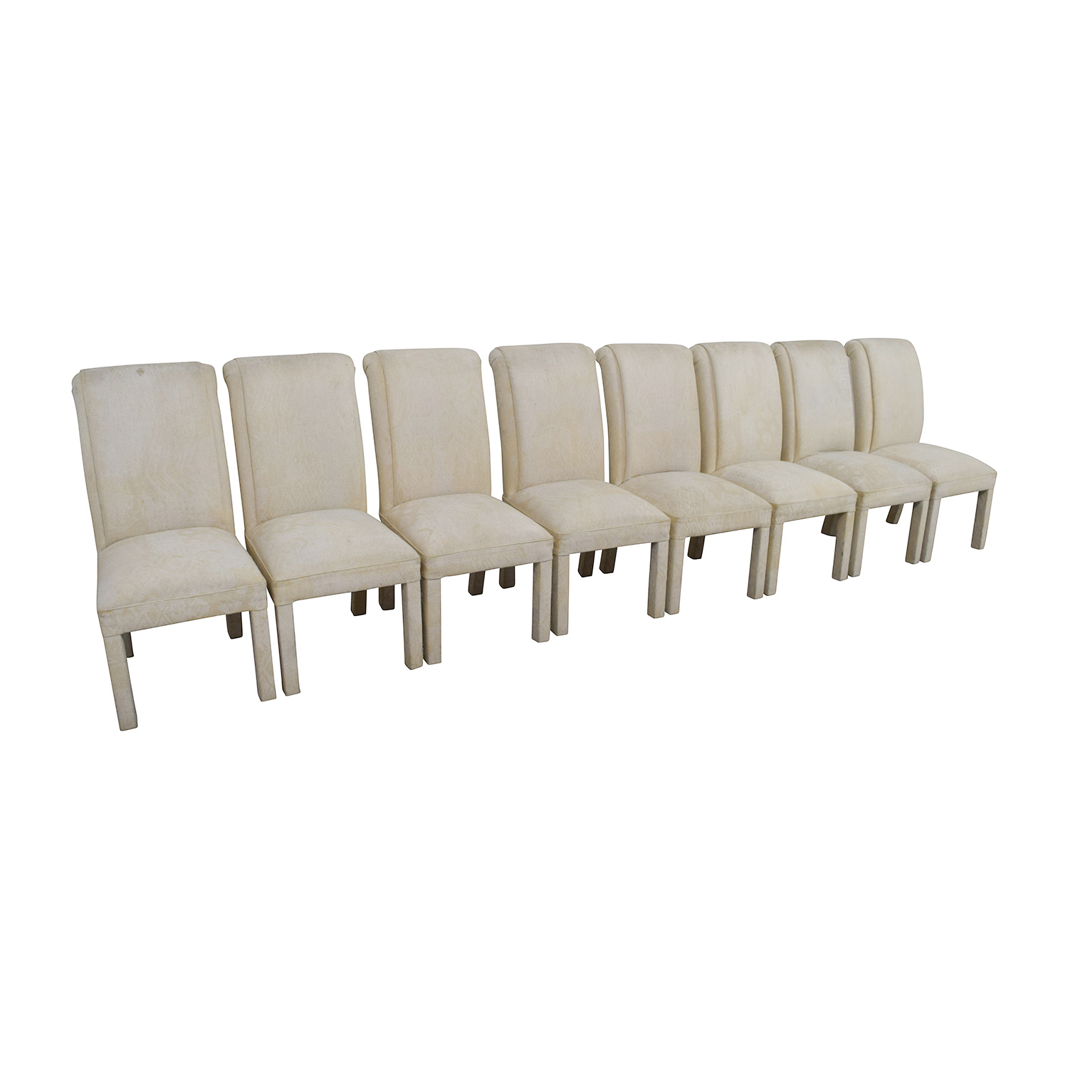 ... Shop White Fabric Parsons Chairs Dining Chairs ...