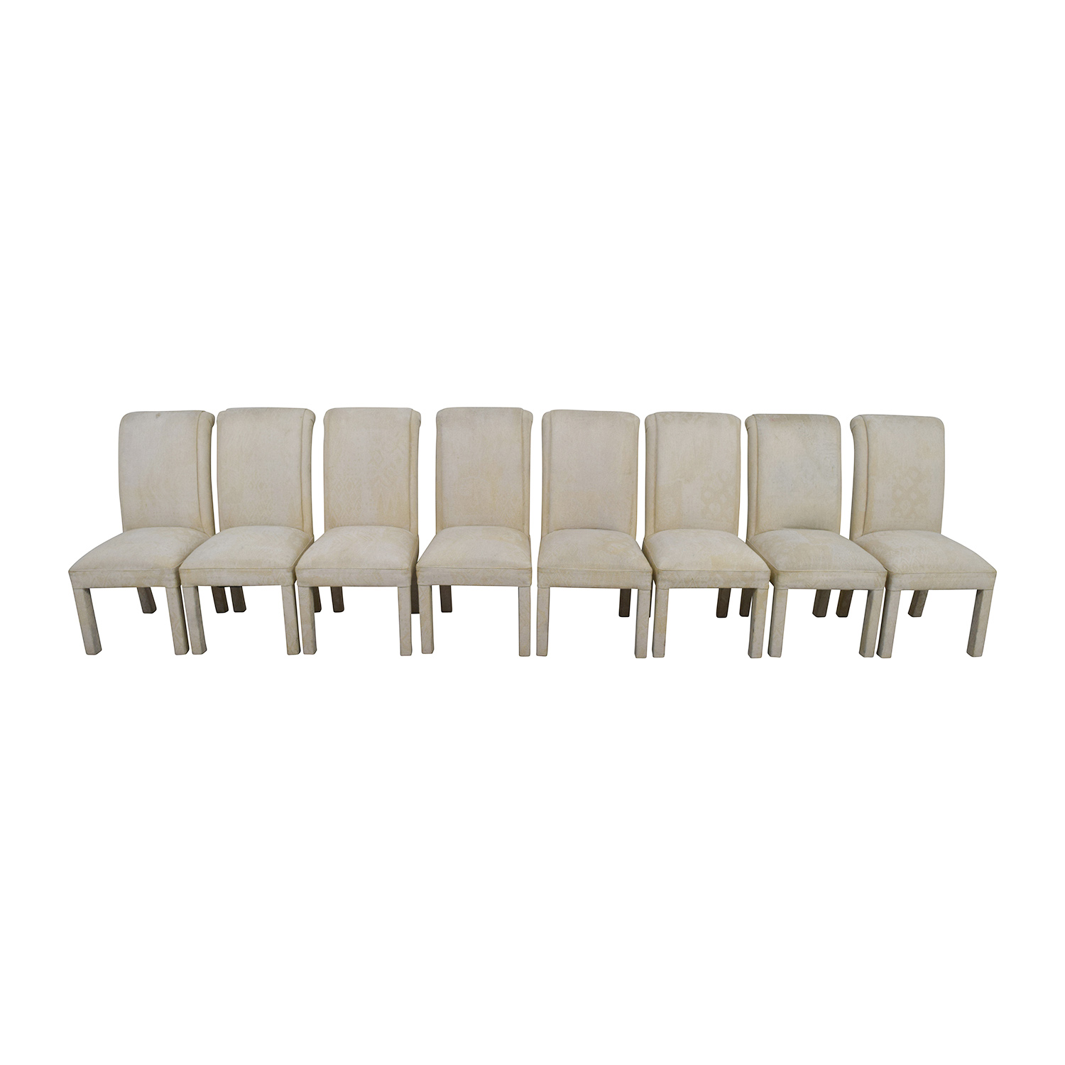 ... Buy White Fabric Parsons Chairs Online ...