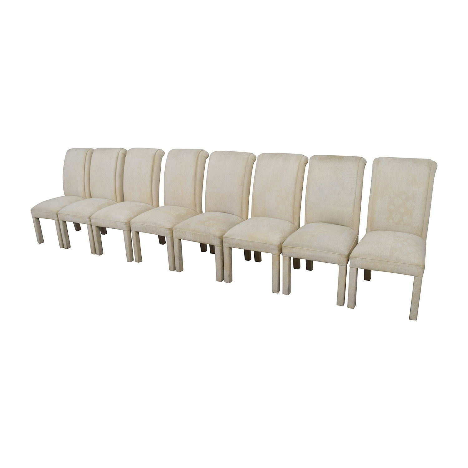 ... White Fabric Parsons Chairs Sale ...