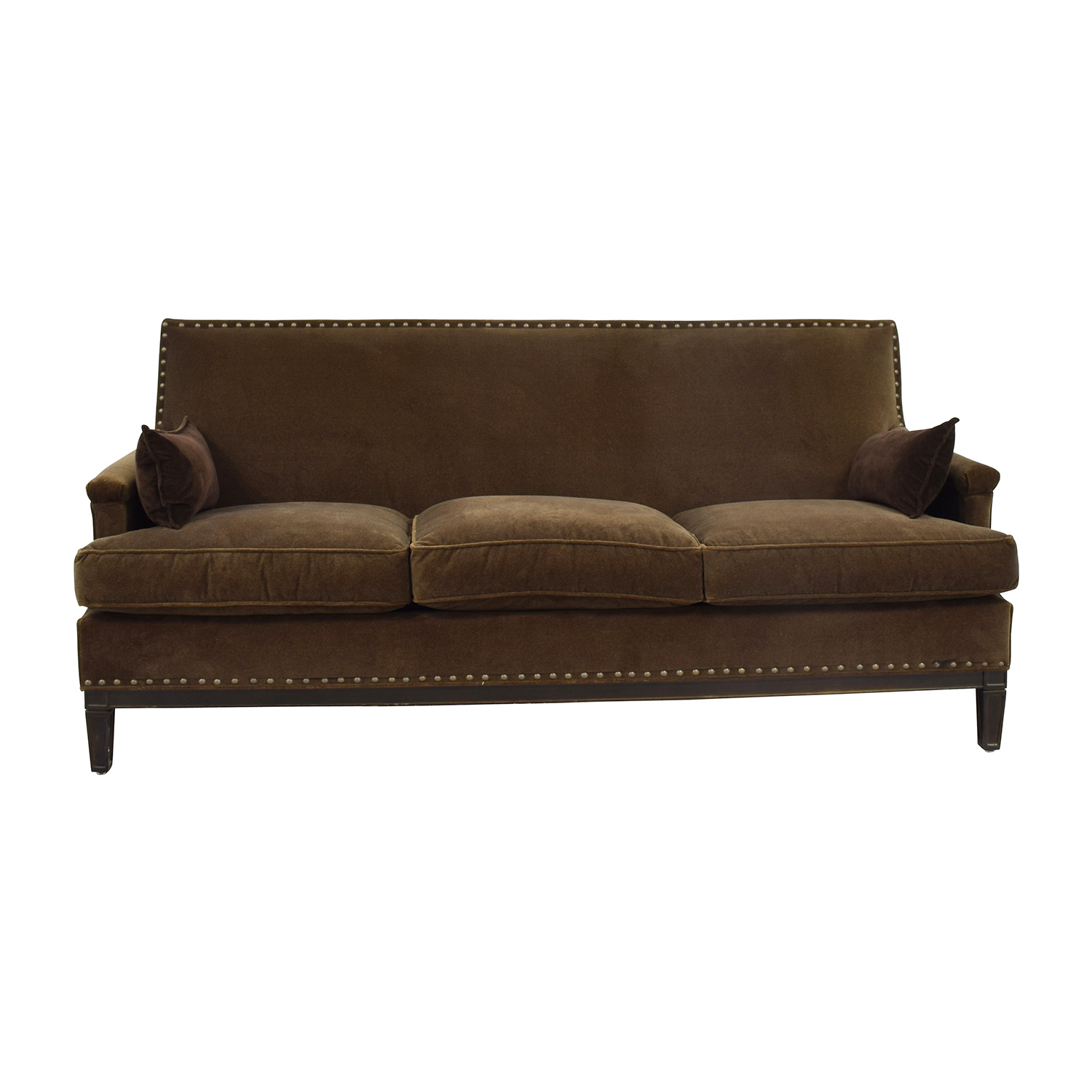 Robin Bruce Simone Brown Sofa sale